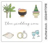 wedding timeline thai icons set.... | Shutterstock .eps vector #1836497098