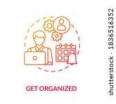 get organized red gradient...   Shutterstock .eps vector #1836516352