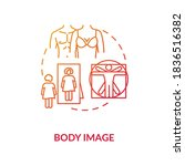 body image concept icon. human... | Shutterstock .eps vector #1836516382