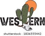 Western Slogan Illustration...