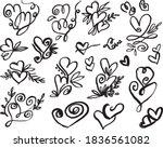 hand drawn heart design... | Shutterstock .eps vector #1836561082