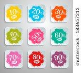 discount vector splash   paper... | Shutterstock .eps vector #183657212