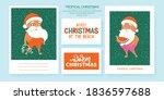 summer santa's greeting cards....   Shutterstock .eps vector #1836597688