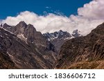 Scenic Landscape Of High Rugged ...