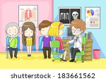 physician doctor or... | Shutterstock .eps vector #183661562