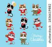 merry christmas and happy new... | Shutterstock .eps vector #1836619882