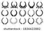 laurel wreath. collection of... | Shutterstock .eps vector #1836622882