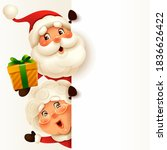 santa claus and mrs.claus with... | Shutterstock .eps vector #1836626422