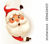 santa claus with big blank... | Shutterstock .eps vector #1836626425