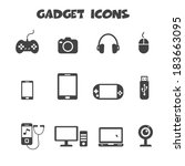 gadget icons  mono vector...