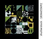 new grunge aesthetics in... | Shutterstock .eps vector #1836653692