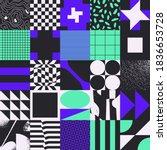 geometric distress aesthetics...   Shutterstock .eps vector #1836653728