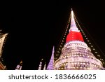 The Image Of An Old Thai Chedi...