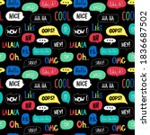 bright seamless pattern with... | Shutterstock .eps vector #1836687502