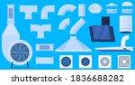 ventilation system  fan ... | Shutterstock .eps vector #1836688282