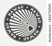 hawaii round logo. vintage... | Shutterstock .eps vector #1836733045