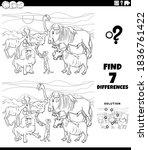 black and white cartoon... | Shutterstock .eps vector #1836761422