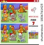 cartoon illustration of finding ... | Shutterstock .eps vector #1836761425