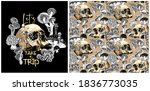 collection of print and... | Shutterstock .eps vector #1836773035