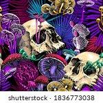 seamless wallpaper pattern.... | Shutterstock .eps vector #1836773038
