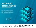 quantum computer  large data...   Shutterstock .eps vector #1836799318