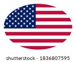 oval american flag  stars and... | Shutterstock .eps vector #1836807595