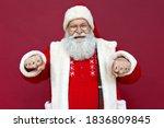 Funny Happy Old Bearded Santa...