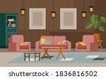 living room home interior... | Shutterstock .eps vector #1836816502