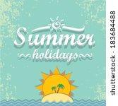 summer paradise beach... | Shutterstock .eps vector #183684488