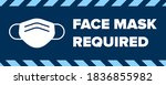 face mask required sign.... | Shutterstock .eps vector #1836855982