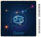 vector constellation cancer... | Shutterstock .eps vector #183685808