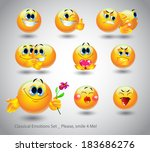 cheerful set of emotions for a... | Shutterstock .eps vector #183686276