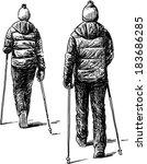 norwegian nordic walking   Shutterstock .eps vector #183686285
