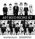 Art Deco People Set.