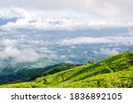 panoramic views of the misty...   Shutterstock . vector #1836892105