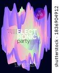 summer music. fluid holographic ...   Shutterstock .eps vector #1836904912
