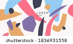 a composition with abstract... | Shutterstock .eps vector #1836931558