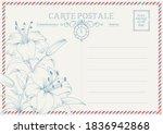 vintage postcard background... | Shutterstock .eps vector #1836942868