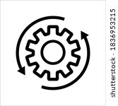 workflow line style icon... | Shutterstock .eps vector #1836953215