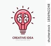 creative idea in line icon ... | Shutterstock .eps vector #1836962248
