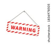 red and white grunge warning... | Shutterstock .eps vector #1836978505