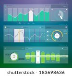 set of various elements used... | Shutterstock .eps vector #183698636