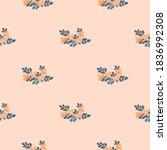 pretty vintage feedsack pattern ...   Shutterstock .eps vector #1836992308