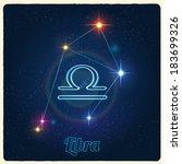 vector constellation libra with ... | Shutterstock .eps vector #183699326