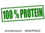 protein grunge stamp with on...