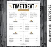 restaurant menu design | Shutterstock .eps vector #183705032
