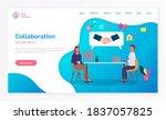 collaboration teamwork concept... | Shutterstock .eps vector #1837057825