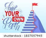find your own path slogan.... | Shutterstock .eps vector #1837057945