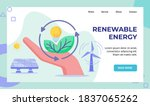 renewable energy hand hold... | Shutterstock .eps vector #1837065262