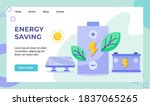 energy saving green leaf... | Shutterstock .eps vector #1837065265